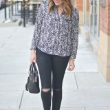 snow leopard top with black denim via fizzandfrosting.com