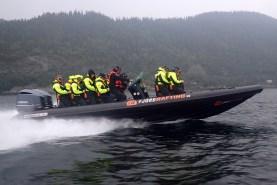 Med Fjordrafting inn Trondheimsfjorden