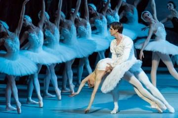 "Viktoria Tereshkina and Vladimir Shklyarov in the Mariinsky Ballet's ""Swan Lake."" Photograph by Jack Vartoogian"