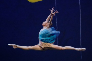 """Sara Mearns in Alexei Ratmanksy's """"Pictures at an Exhibition."""" Photograph by Paul Kolnik"""
