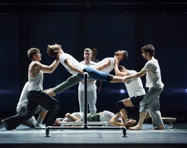 "BalletBoyz performing ""Fiction"" by Javier de Frutos. Photograph by Tristram Kenton"