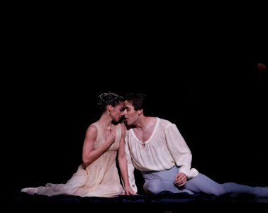 Karina Gonzalez and Connor Walsh in Houtson Ballet's Romeo and Juliet. Photo by Jeff Busby