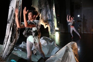 """Rebecca Pappas' """"Plastic Flow"""" at REDCAT's NOW festival. Photograph by Steve Gunther"""