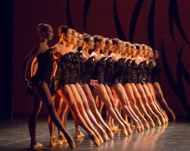 "Scottish Ballet perform Crystal Pite's ""Emergence"" at Edinburgh International Festival. Photograph by Andy Ross"