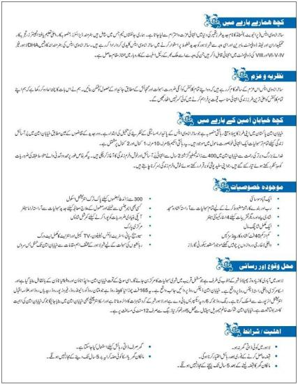 Introduction & requirments for Khayaban e Amin Housing Lahore