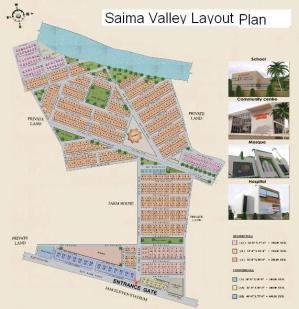 Saima Green Valley Karachi (Layout Plan or Drawing small)