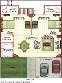 Areesha City Karachi - a house drawing layout plan