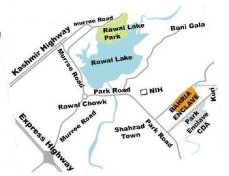 Bahria Enclave Location Plan - Opposite Park Enclave