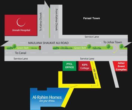 Al Rahim Homes Lahore - Location map or plan