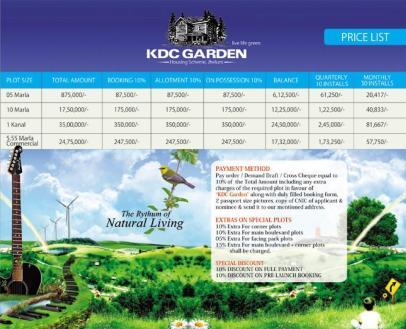KDC-Garden-Jhelum-Price-List