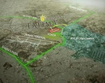 Fatima Golf Residency Karachi Location Map
