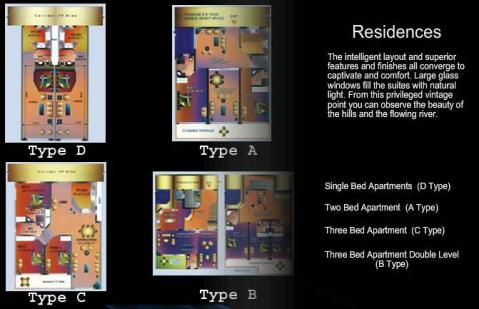 Apartments layout Plan - 1,2 and 3 beds in Islamabad country club