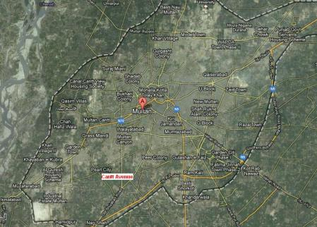 Location Map Cantt Avenue Multan