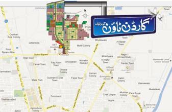 Garden Town Gujranwala Location Map