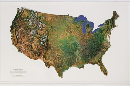 buy usa relief map (satellite) | flagline