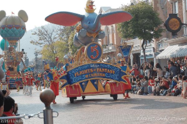Hong Kong Disneyland Flights of Fantasy Parade Dumbo