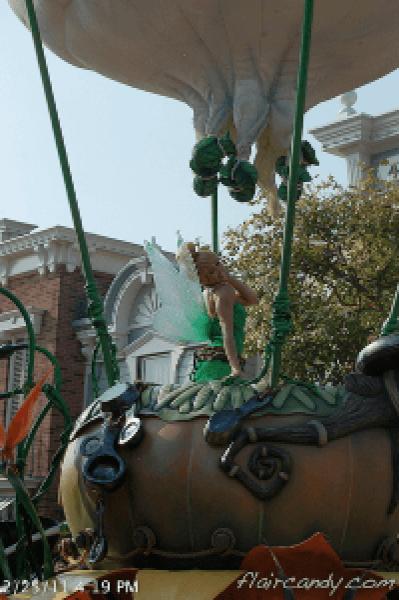 Hong Kong Disneyland Flights of Fantasy Parade Tinkerbell