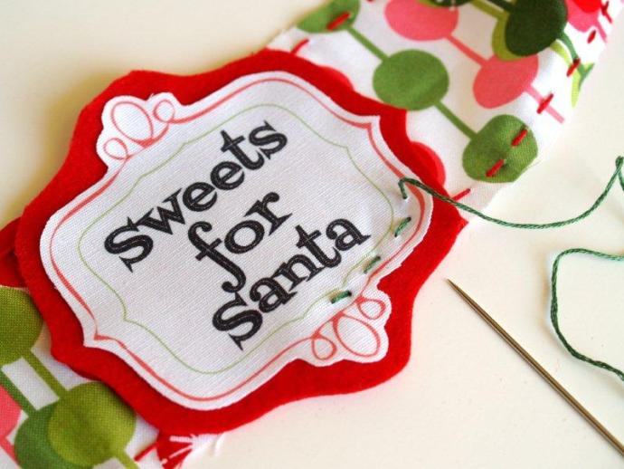 Sewing Candy Labels Together
