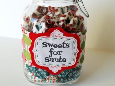 Sweets For Santa Candy Jar