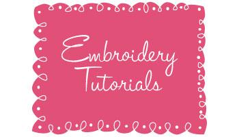 Embroidery-Tutorials