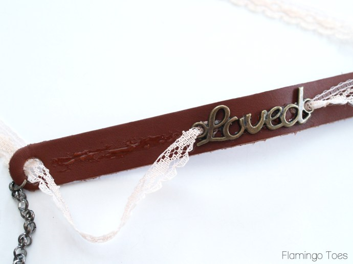 Gluing Lace on Bracelet