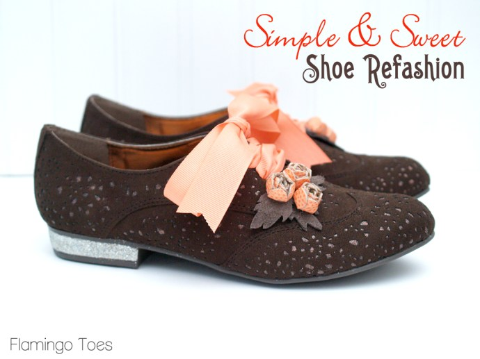 Simple and Sweet Shoe Refashion
