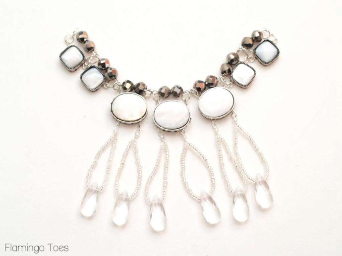 adding drops to necklace