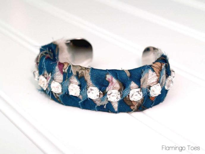 fabric wrapped bracelet tutorial