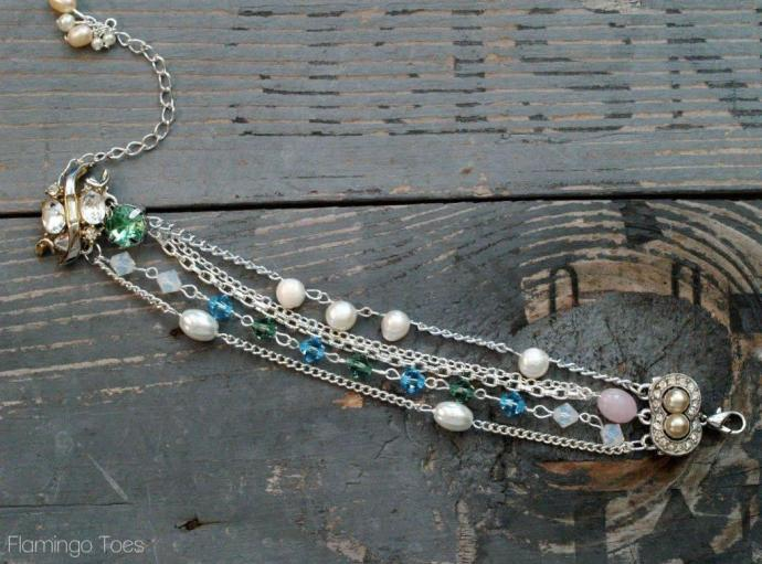 Chain and Bead Bracelet