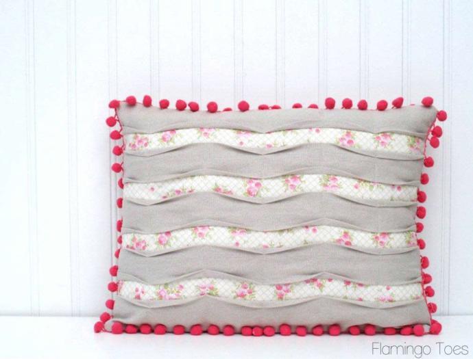 Chevron Pintuck Pillow