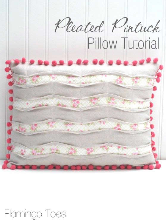 How to Make a Pleated Pintuck Pillow