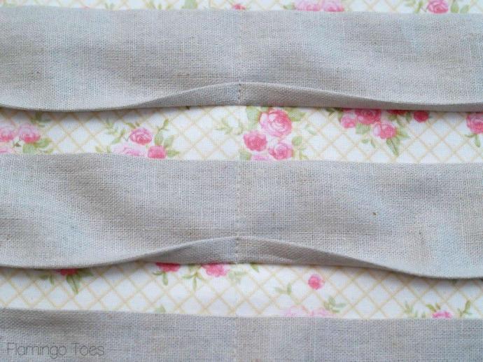 sewing pleats