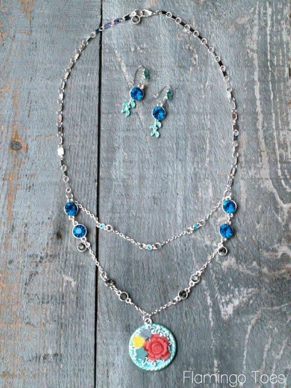 pretty necklace and earrings tutorial