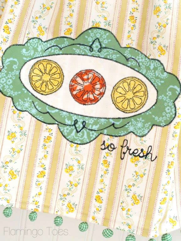 Free Motion Embroidery Dishtowel DIY