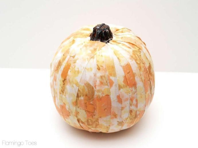 fabric wrapped pumpkin