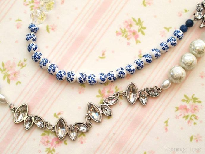 beads and crystals necklace