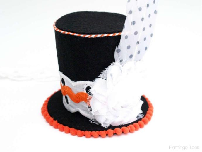 flower and feather for top hat
