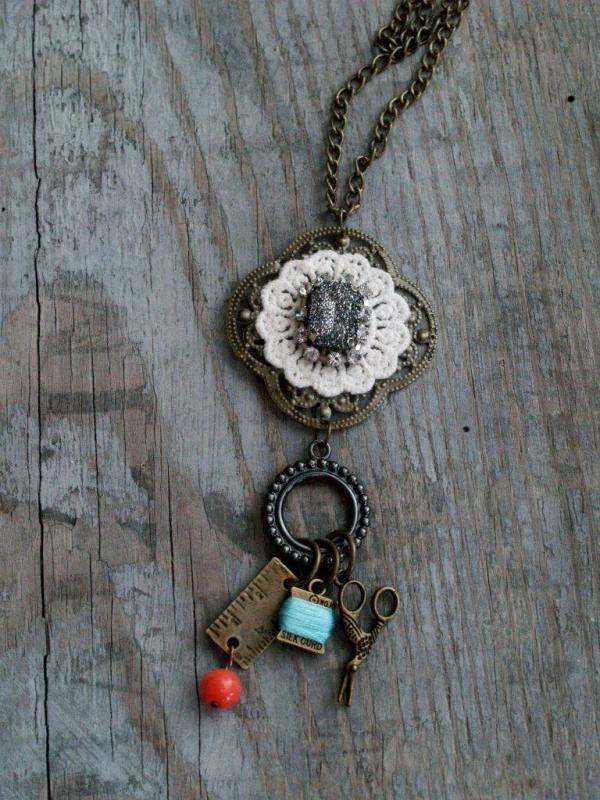 Sewing Charm Necklace DIY