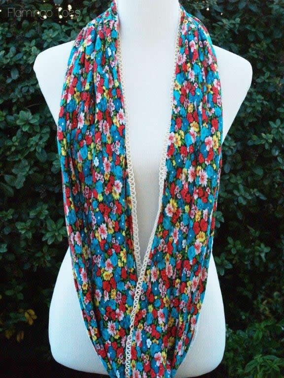 Knit and Lace Scarf