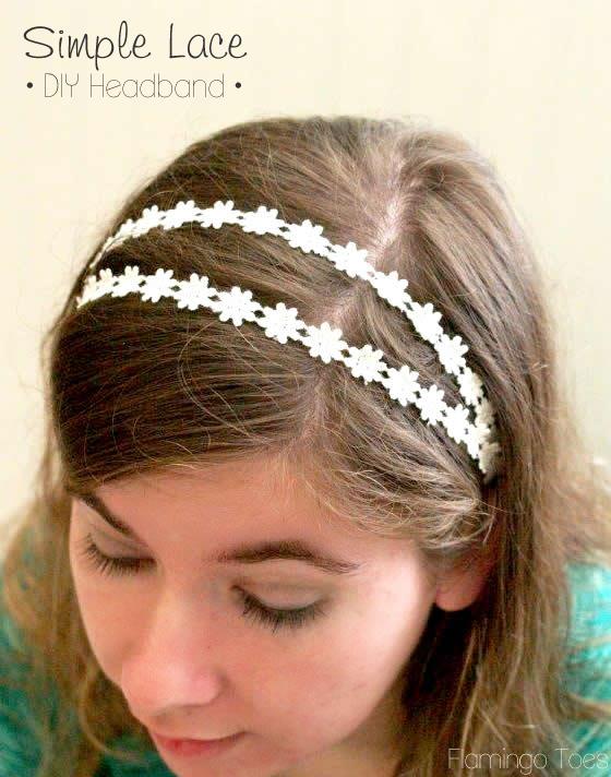 simple lace diy headband