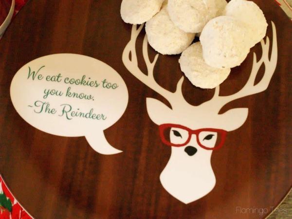 reindeer cookie plate