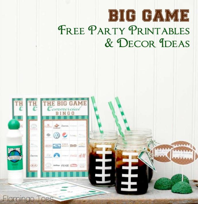 Big Game Party Free Printables