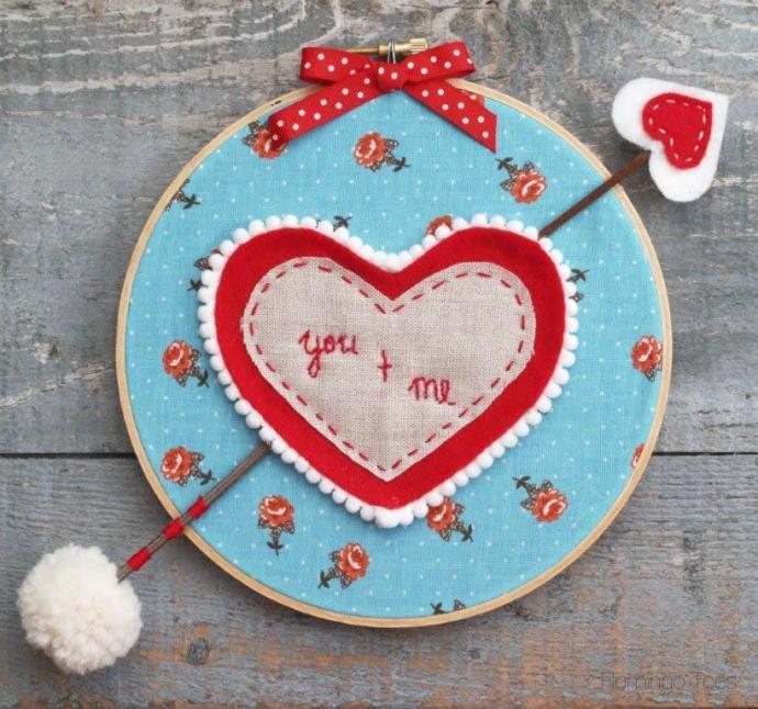 Valentine Hoop Art and Arrow