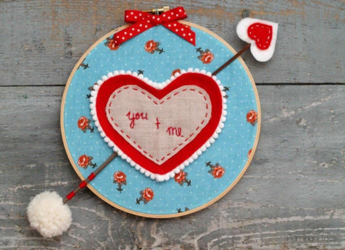 You and Me Hoop Art