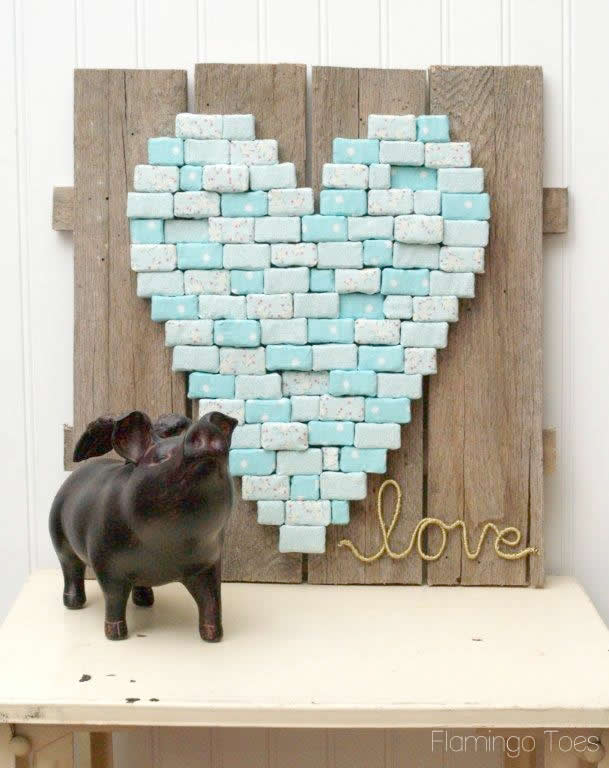 heart diy pallet art