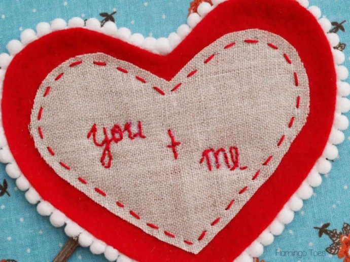 you and me embroidery
