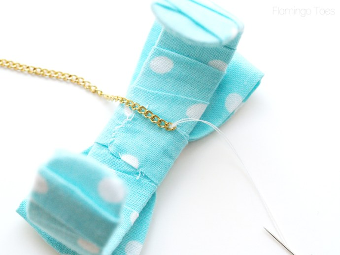 sewing chain to bracelet