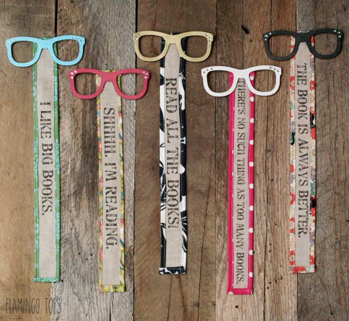 Cute Glasses and Fabric Bookmarks