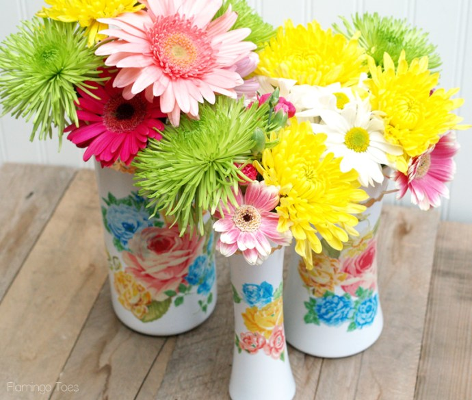 Pretty Floral Vintage Vases