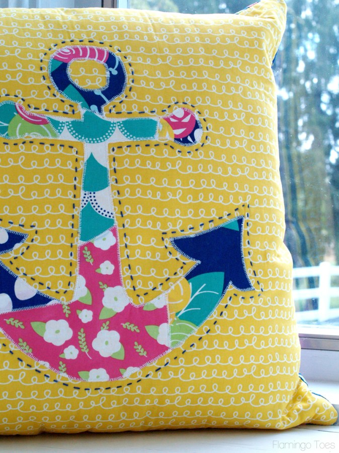 Colorful Anchor Pillow